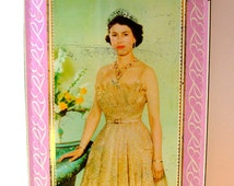 Vintage 1950s Queen Elizabeth II Coronation Souvenir Commemorative Collectable Sharps Toffee Tin
