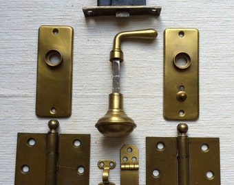 Vintage Brass French Door Set