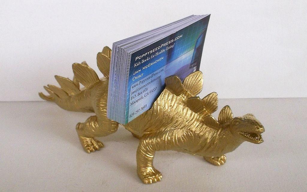 Business Card Holder Gold Dinosaur Business Card Holder Desk
