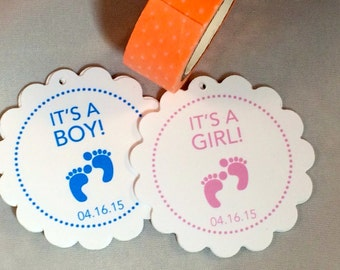 Baby shower gift tags -- Personalized baby shower gift tags -- baby shower favor gift tags -- Personalized stationery -- Set of 25 gift tags
