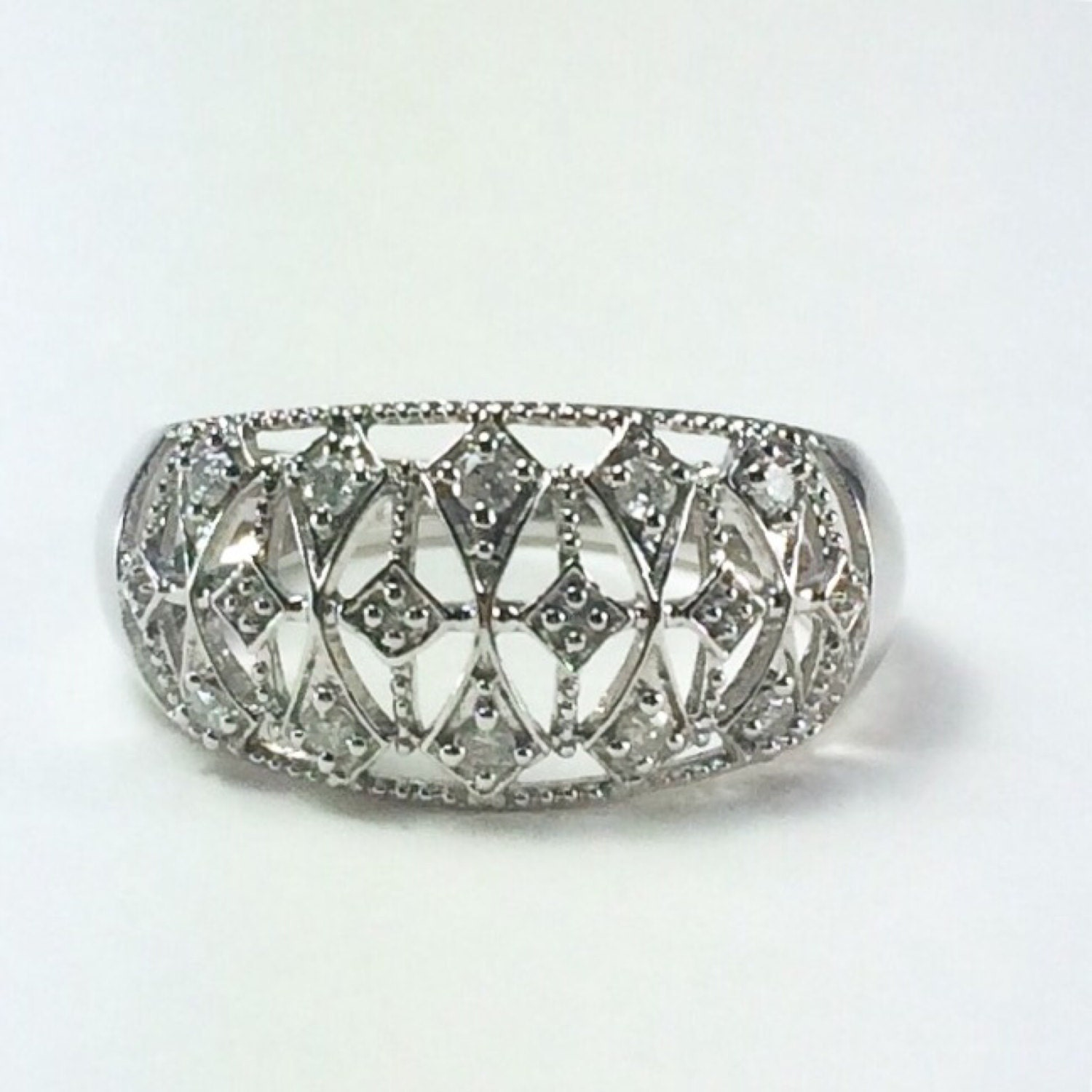 white gold filigree ring by susansestatejewelry on etsy