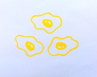 Omelet stamp.Food stamp.  Hand carved stamp. Rubber stamp. Unmounted.