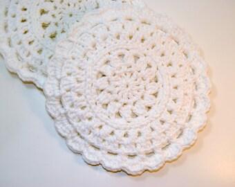 White Crocheted Cotton Trivet