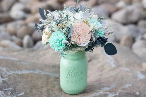 rustic mason jar wedding centerpiece