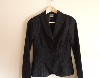 Vintage PAPER DOLL black light blazer  with button, made in USA, size 5