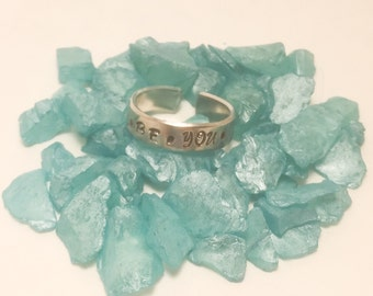 Hand Stamped Personalized Ring