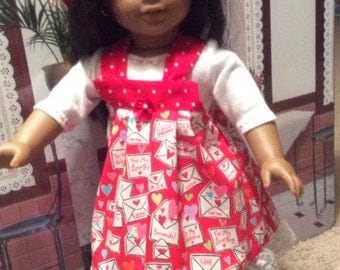 Adorable Valentine's Day outfit for American girl dolls
