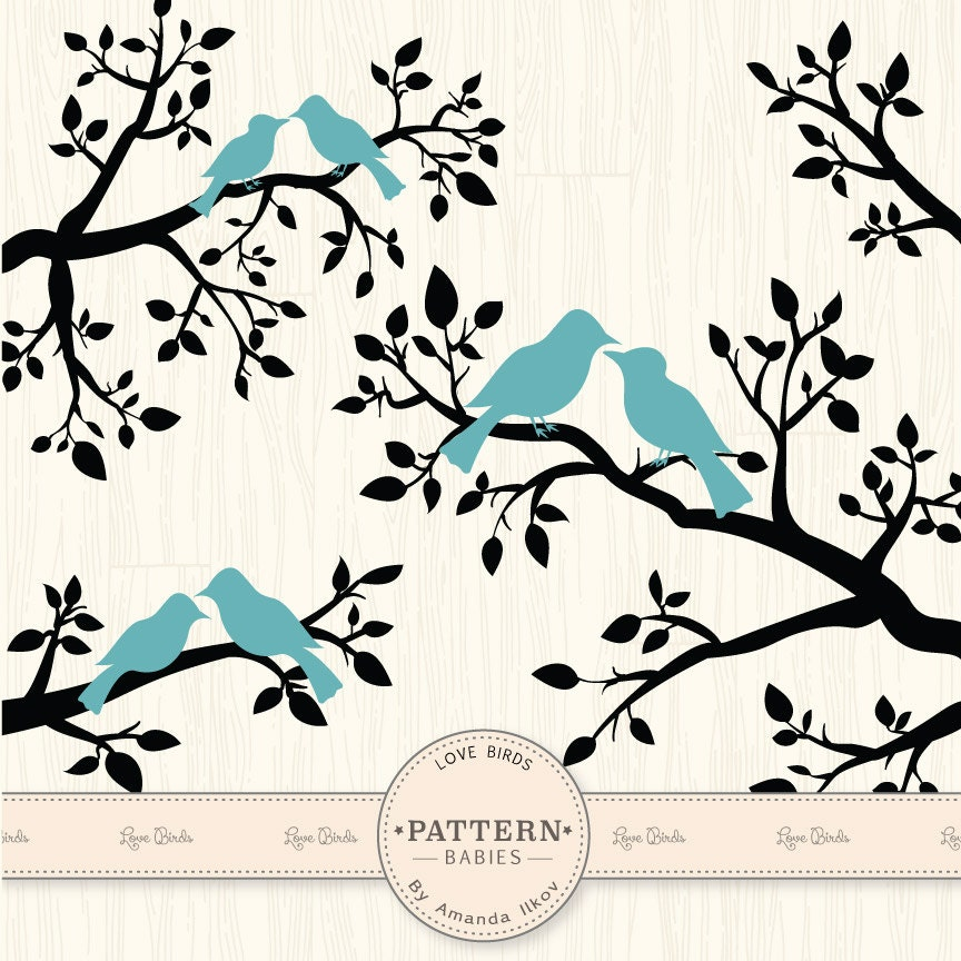 Premium Blue Love Birds Clip Art Amp Vectors Wedding Clipart