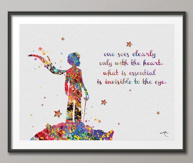 The little prince quote le petit prince french by cocomilla Decoration le petit prince