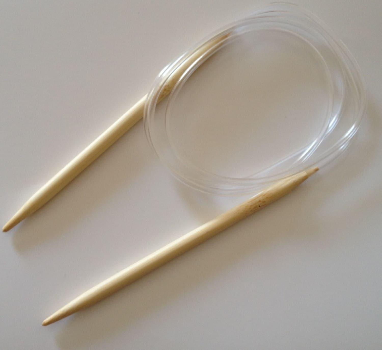 Circular Knitting Needle Sizes : Cm bamboo circular knitting needle size us