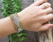 Tribal bracelet,Beaded Bracelet,Boho Bracelet,geometric bracelet,Bohemian brass bracelet,Boho brass jewelry