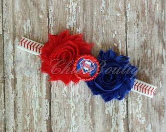 Philadelphia Phillies baseball elastic infant, toddler, or adult size headband