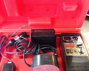 CB Radio Mobile Carry Along Automotive Electrical Battery Charger Emergency Car Travel Trouble 1980s