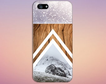 Falling Snow x Rocky Mountains Wood Design Case for iPhone 6 6 Plus iPhone 7  Samsung Galaxy s8 edge s6 and Note 5  S8 Plus Phone Case
