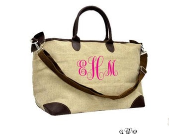 Personalized Jote Tote Bag, weekender bag,luggge, large overnight bag, extra large duffle overnight bag, monogrammed large weekender bag