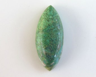 29x12x5mm chrysocolla marquise untreated cabochon