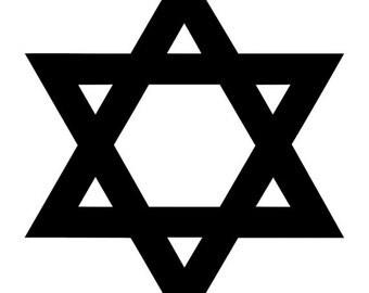 Star of David, Jewish Star - Car/Truck/Home/Computer/Phone Decal