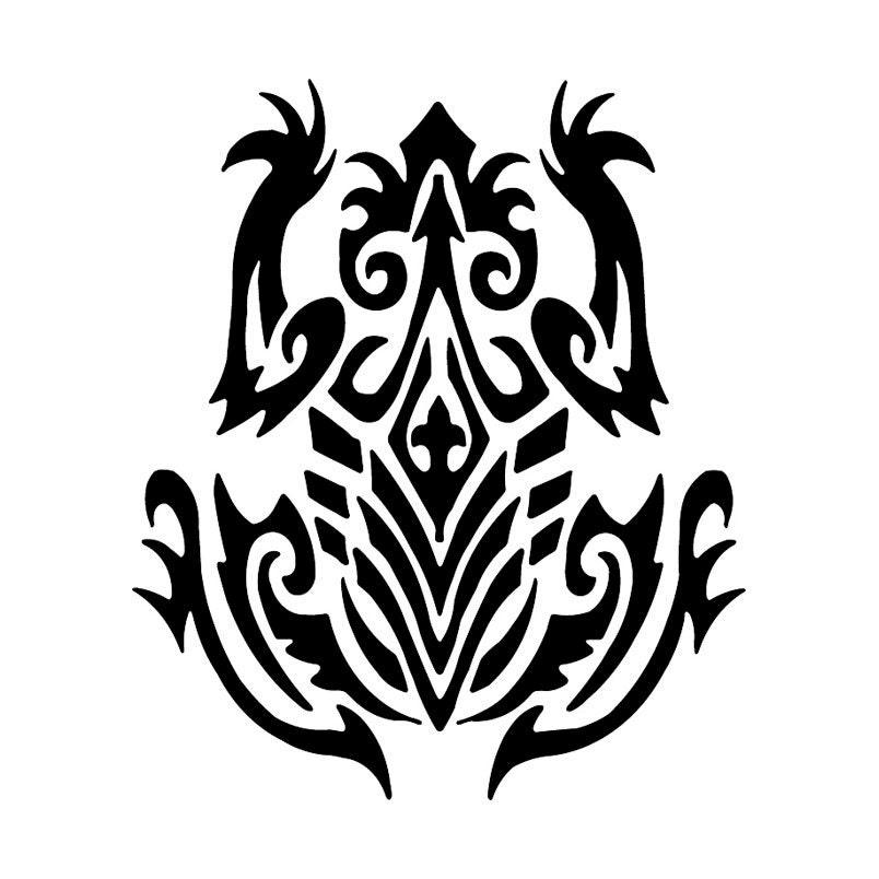 Tribal tree frog tribal tattoo design for Tribal frog tattoo