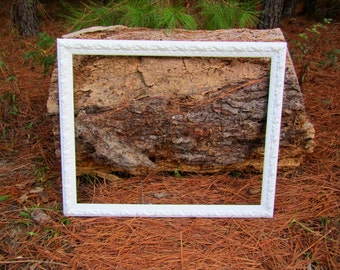 Large white wood picture frame / photo prop / wedding / anniversary / large picture frame / wood frame