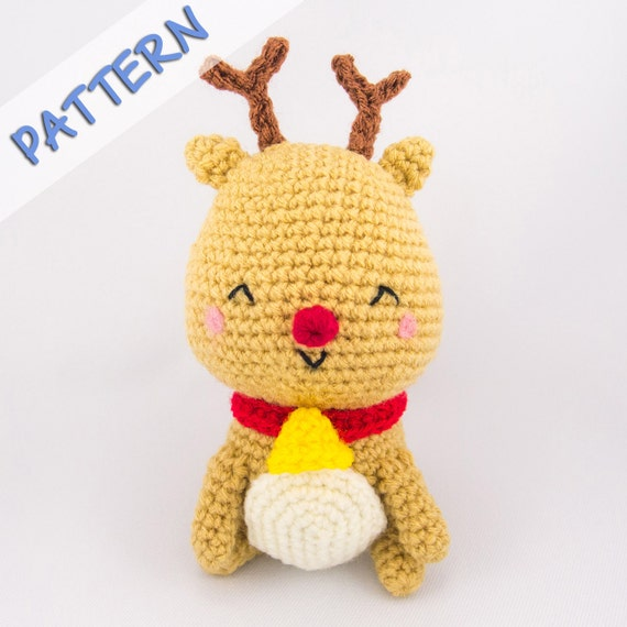 Christmas Reindeer Amigurumi : Christmas Amigurumi Crochet Pattern PDF by SnacksiesHandicraft