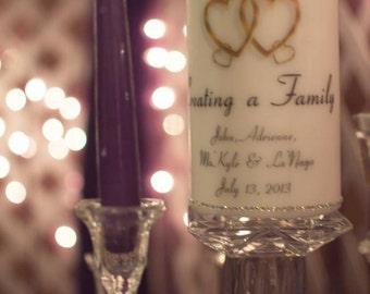 Personalized Unity Wedding Candle Set