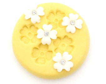 Flower Mold Mould Resin Clay Fondant Wax Soap Fimo Cabochon Kawaii Flexible Silicone Mold