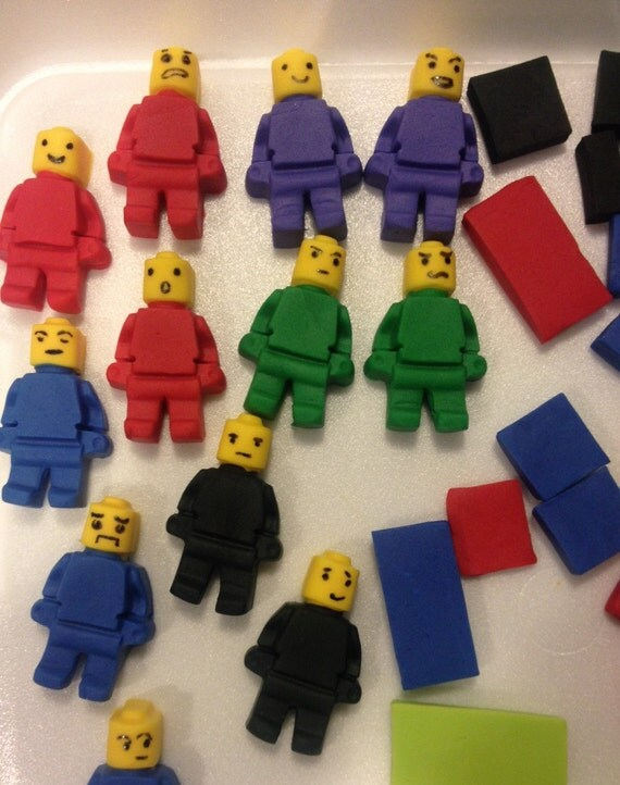 mini figures WITH FACIAL EXPRESSIONS inspired by Lego edible fondant ...