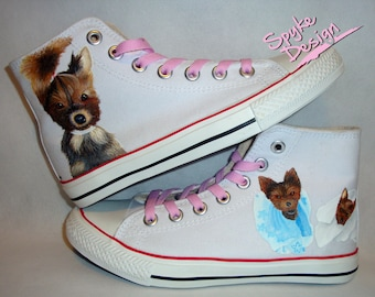 York dogs handpainted shoes