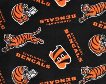 Cincinnati Bengals NFL Fleece Fabric - by the Yard