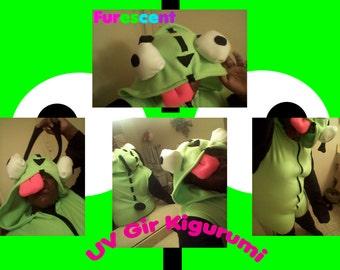 Gir Kigurumi, Onesie, pajamas, cosplay, costumefrom Invader Zim!