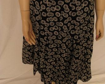 Talbots print pleated skirt