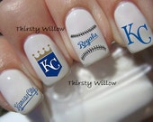 Kansas City Royals Nail Decals