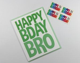 Birthday Card - Brother Birthday Card - Men's Birthday Card - Birthday Card for Boy - Happy Birthday Bro