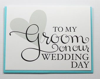 Wedding Card, Wedding Day Card, Groom Card, Fiance Card, Husband Card, On Our Wedding Day