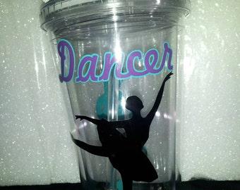 Dance Personalized Tumbler - Ballet Tumble - Ballet Gift - Dancer Gift