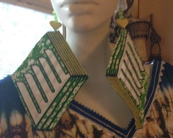 Africam Print Earrings