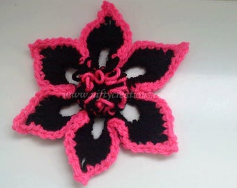 Nifty five point flower with loops - Pattern