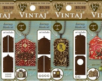 ALL 4 Vintaj Doorway series blanks sets. Brand New Items, Embossing Blanks, Persian, Stable, Ornate and Stepped!