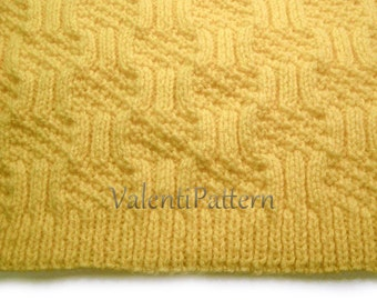 Pattern oo4, PATTERN BABY BLANKET, knitting baby blanket pattern, pdf pattern