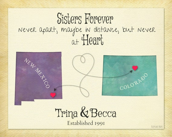 Sister gift idea moving away gift for sister sisters forever like this item negle Images