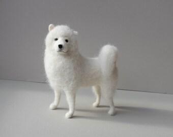 Needle Felt Dog Portrait. Medium. Custom pet portrait of your dog