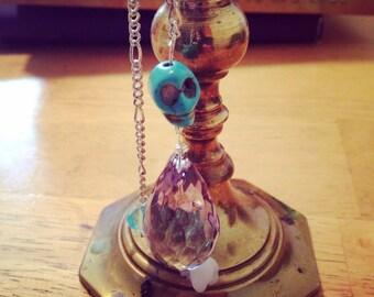 Skull & crystal pendulum