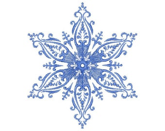 Christmas Snowflake Embroidery Design - Frost patterns - Machine Embroidery Snowflake  Design - Instant Download
