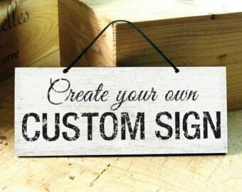 Create your own custom sign wooden signs by ecosmiccreations for Design your own house sign