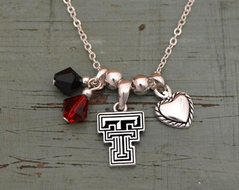 Texas Tech Red Raiders Memory Necklace