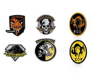 Metal Gear Solid Velcro  Patch XOF, Diamond Dogs, Outer Heaven, FOX, MSF, Foxhound As Seen in Metal Gear Solid V The Phantom Pain Big Boss