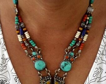 Exquisite Vintage Tibetan Necklace