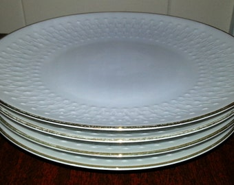 Vintage Set of 4 Mitterteich Bavaria Porcelain Dessert Plates - Made in Germany