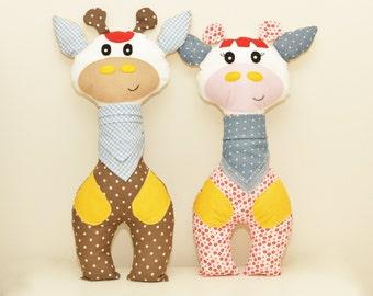 Giraffe Sewing Pattern PDF Instant Download Plush Stuffed Toy Tutorial. Fabric giraffe pattern. GiraffePDF. Easter gift. New Baby gift.