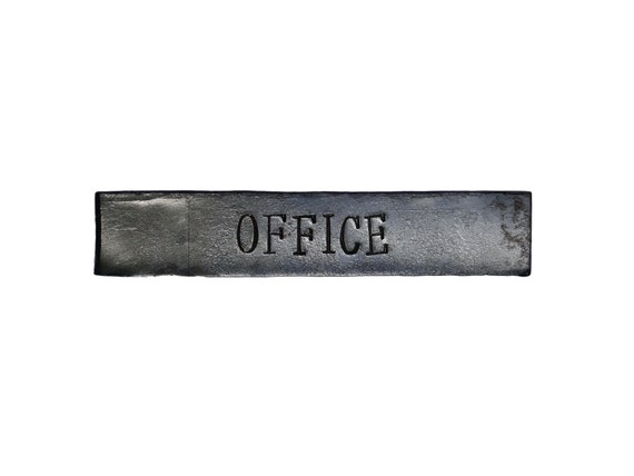 Office Name Plates: Office Door Sign Forged Custom Industrial Rustic Office